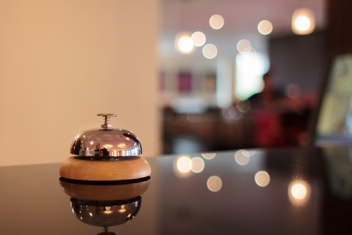 A picture of a concierge bell